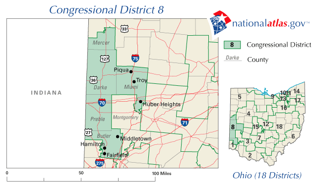 Ohios Th Congressional District EN Minguoinfo - Us congressional districts map ohio
